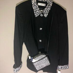 Amanda Smith Jackets & Coats - Amanda Smith black blazer with coordinating bag